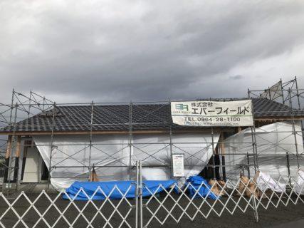 松橋町S様邸屋根瓦施工・木部アンダープロテクト塗装