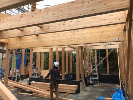 7月4・5日(土・日)熊本市中央区壺川にて、耐震等級3・断熱等級4・省エネ等級5の長期優良住宅 3階建の構造見学会開催致します。